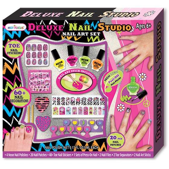 Focus Deluxe Nail Studio Nail Art Set - Walmart.com