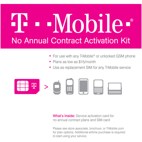 T-mobile No Annual Contract Activation K