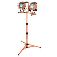Designers Edge L14SLED 1000-Watt Twin-Head Adjustable Work Light with Telescoping Tripod Stand, Halogen