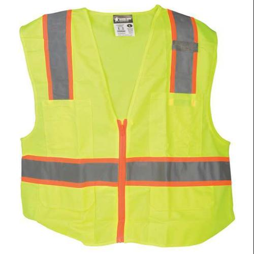 MCR SAFETY High Visibility Vest,Class 2,2XL SURVLX2