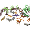 60 Animals Figure Mini Jungle Animals Toys Set,ValeforToy Realistic Wild Vinyl Plastic Animal Learning Party Favors Toys For Boys Girls Kids Toddlers Forest Small Animals Playset Cupcake Topper