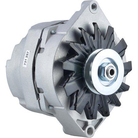 New Alternator for GM 4.8L(292) L6 Gas CHEVROLET / GMC All Models 84 85 86 87 88 1984 1985 1986 1987 1988 AL561X 9Clock 108Amp External Fan Type Solid Pulley Type Internal Rotation CW Rotation 12V ()