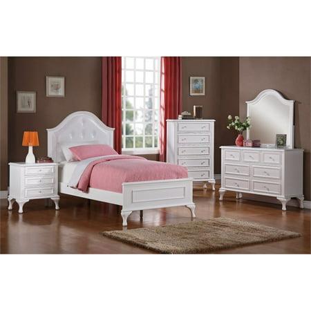 Phenomenal Picket House Furnishings Jenna 5 Piece Twin Kids Bedroom Set In White Interior Design Ideas Greaswefileorg