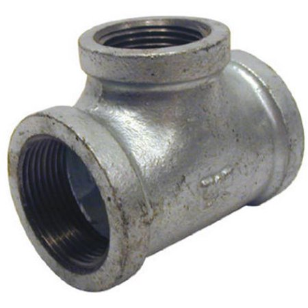 Pannext Fittings G-RT21512 1.5 x 1.25 in. Galvanized Reducing Tee - image 1 of 1