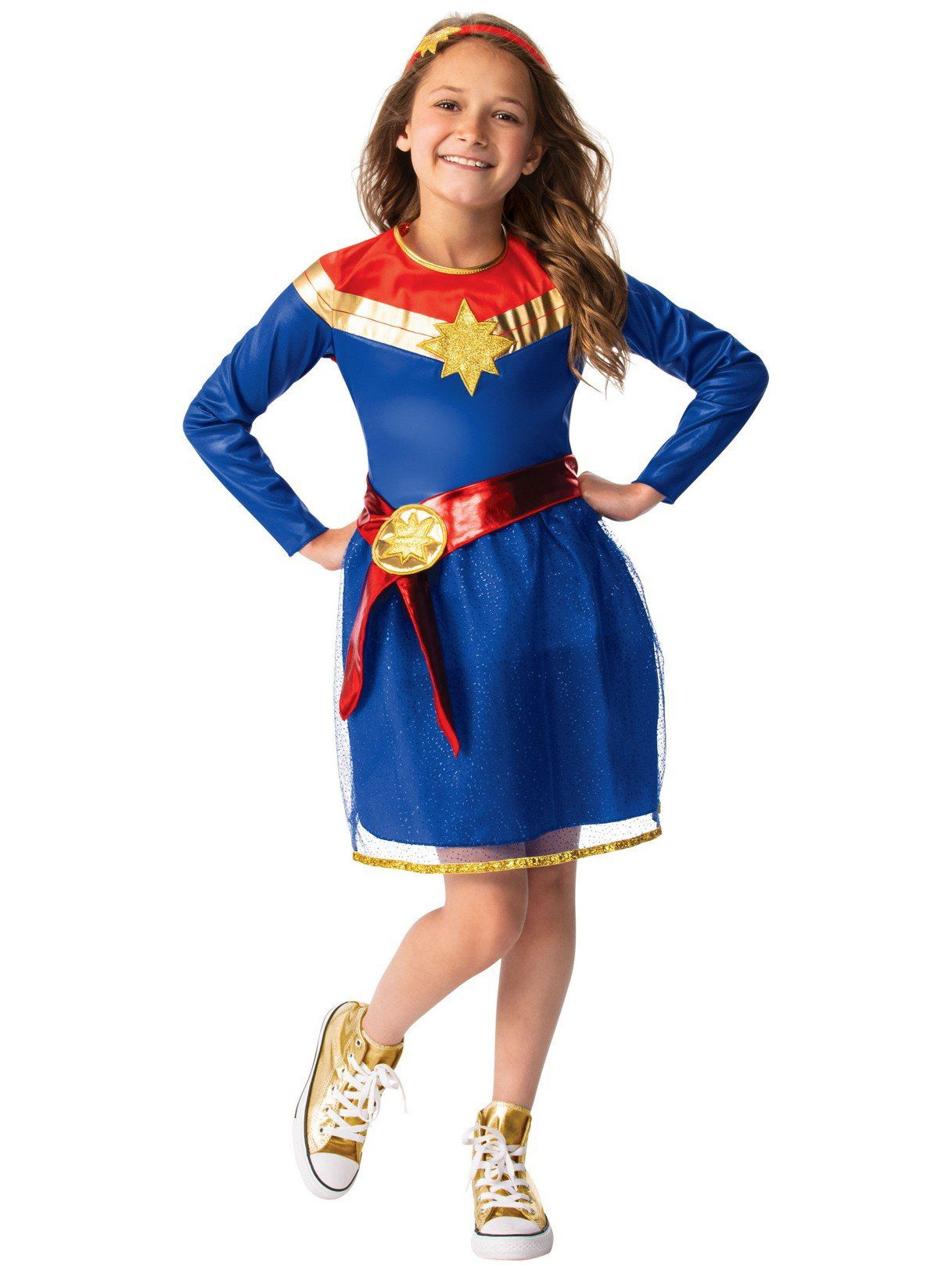 Captain Marvel Tutu Dress Costume Walmart Com Walmart Com With the release of the first photo of brie larson in costume in the upcoming captain marvel film (it was a candid set photo, so we don't know for sure what the context of the costume will be), it made us think about the many different. walmart