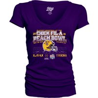 LSU Tigers Blue 84 Women's College Football Playoff 2019 Peach Bowl Bound Wheel Route V-Neck T-Shirt - Purple