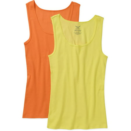 c98402312ea Faded Glory - Faded Glory Women s Plus-Size Ribbed Tank 2-Pack - Walmart.com