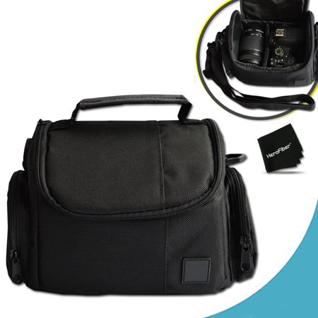 Well Padded Fitted Medium DSLR Camera Case Bag w/ Zippered Pockets and Accessory Compartments for Nikon D5500, D5300, D5200, D5100, D750, D7100, D7000, D810, D810A, D800, D610, D600, D3300, D3200,