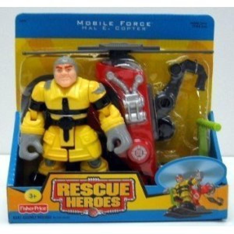 Rescue Heroes Mobile Force Hal E. Copter & Copter by