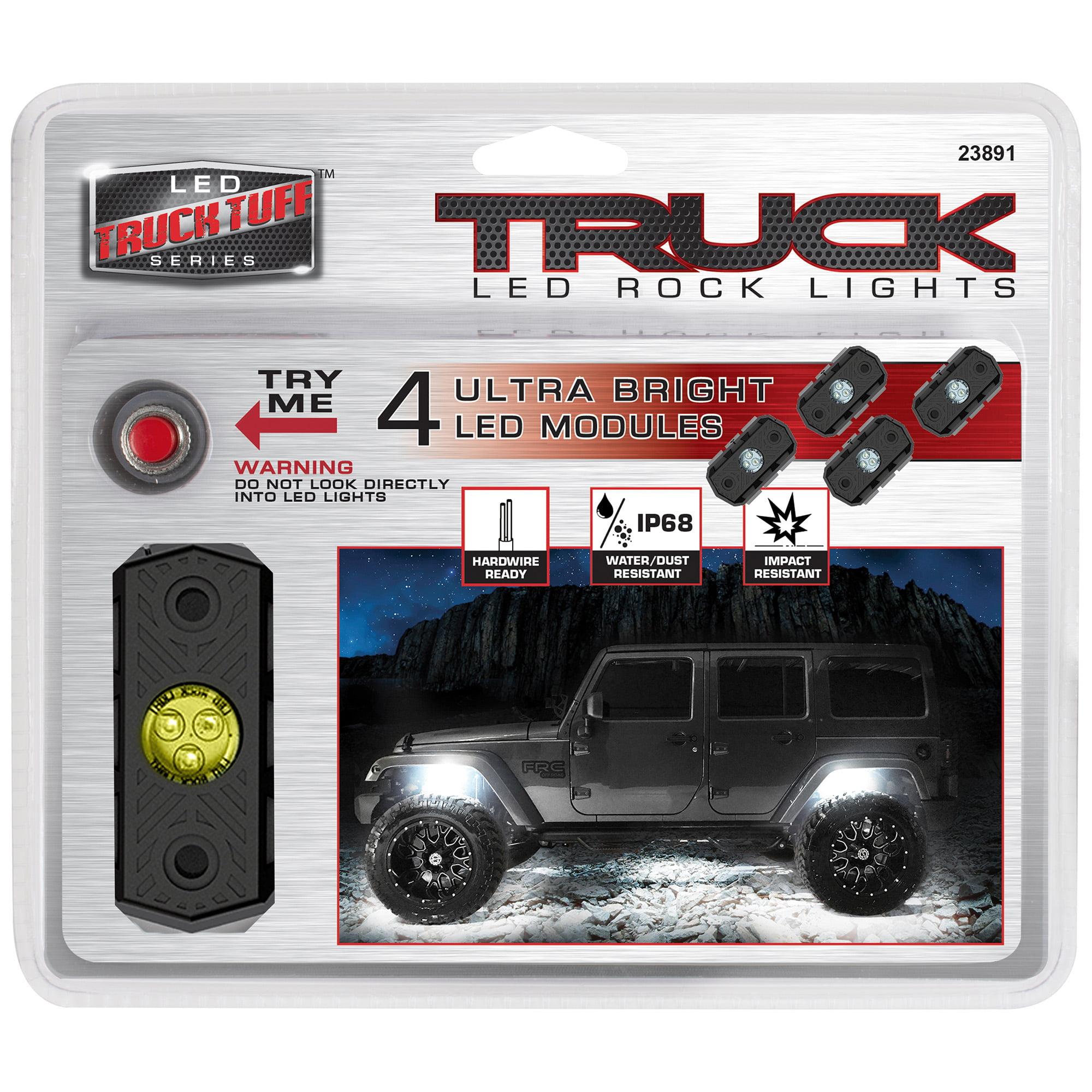 Truck Tuff White Rock Led Lights 4 Light Pods Walmart Com Walmart Com