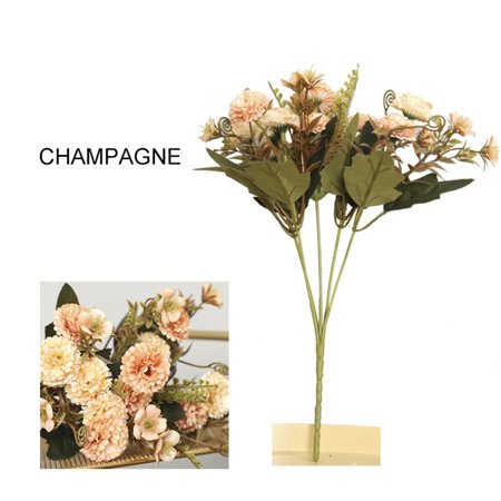 - Artificial Flower Desktop Potted Bunches Five Branches 11 Carnation Festive Bouquets Multiple Flowers Mother's Day Teacher's Day champagne