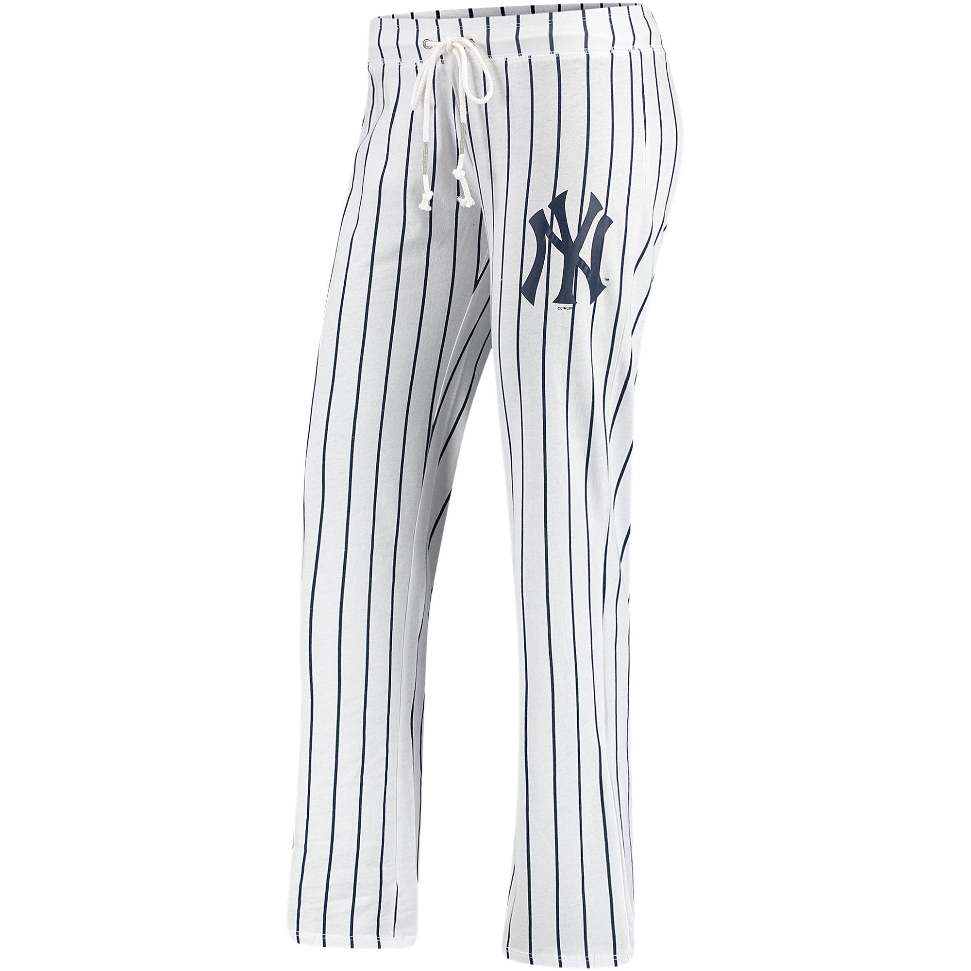 New York Yankees Concepts Sport Women's Vigor Pinstripe Sleep Pant - White