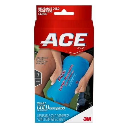 ACE Brand Reusable Cold Compress, Large, Blue,