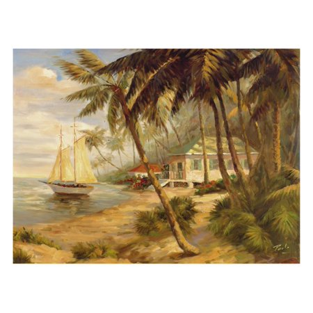 Key West Hideaway Tropical Coastal Landscape Print Wall Art By Enrique Bolo
