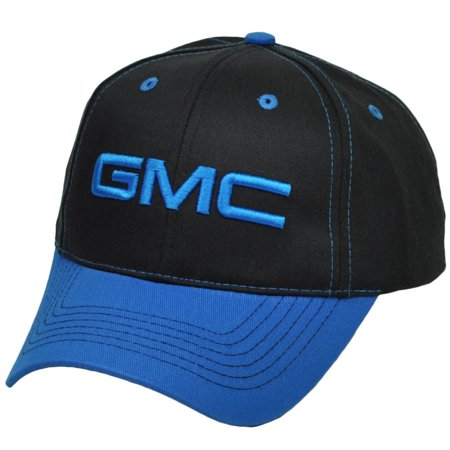 General Motors Company Gmc Black Blue Adjustable Hat Cap Automobile Cars Truck