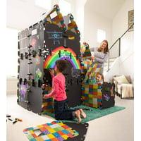 Chalkboard Fantasy Fort Building Kit for Kids, with 16 Panels