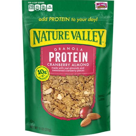 ((2 Pack) Nature Valley Granola, Protein, Cranberry Almond, Crunchy Granola Bag, 11 oz)