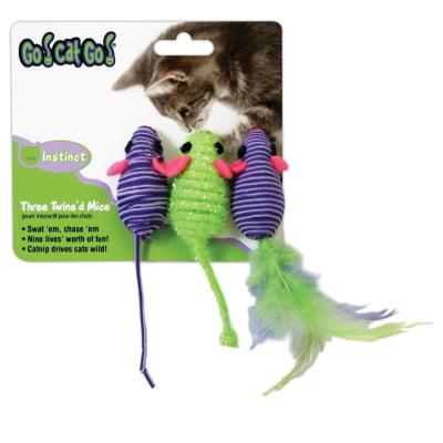 Ourpets Company-Go Cat Go Multi Mice- Multicolored