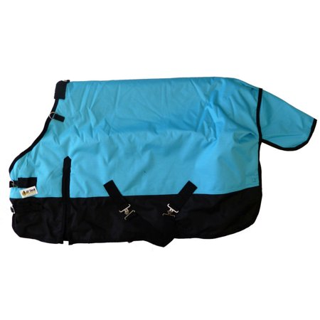 - Pony Horse 1200D Turnout Blanket Rip Stop Water Proof Medium Weight Turquoise