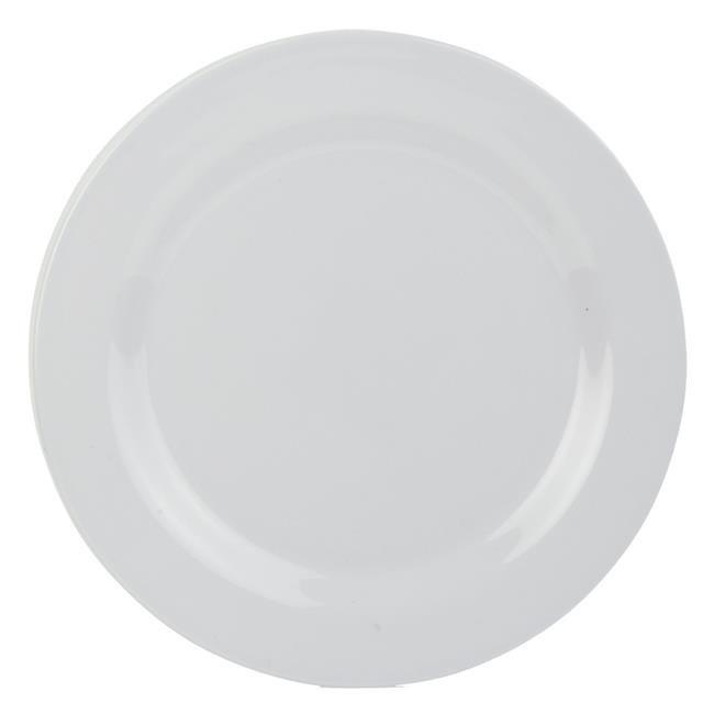 Melamine Dinnerware Dinner Plate - White  sc 1 st  Walmart & Home Basics MD44982-WHT 10 in. Melamine Dinnerware Dinner Plate ...