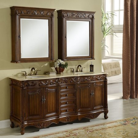 Chelsea Home Furniture Villa 72 39 39 Double Vanity Set With Medicine Cabinet