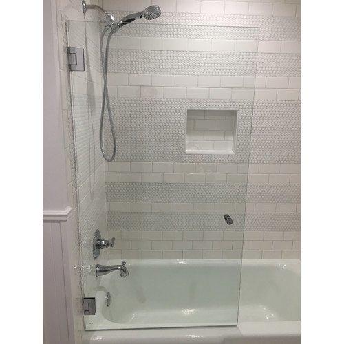 Glass Warehouse 32u0027u0027 X 58u0027u0027 Hinged Frameless Bath Tub Door