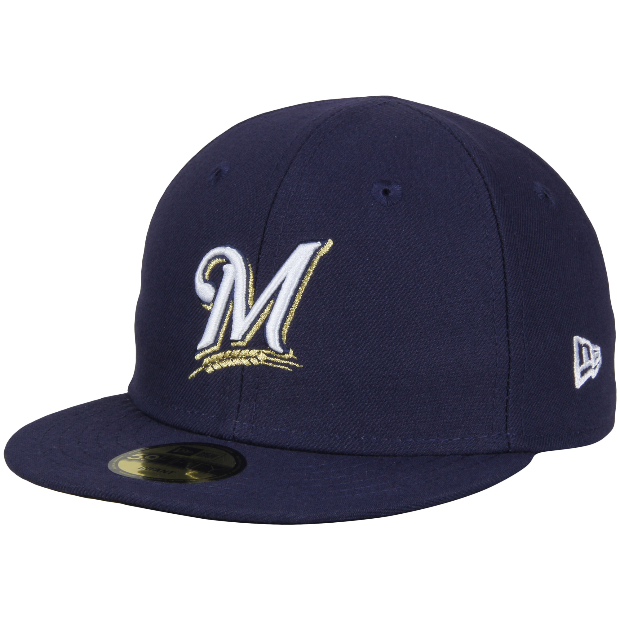 Milwaukee Brewers New Era Infant Authentic Collection On-Field My First 59FIFTY Fitted Hat - Navy - 6