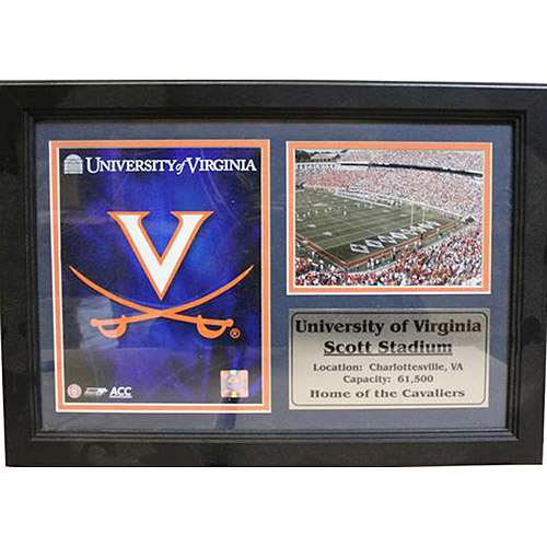 NCAA Virginia Photo Stat Frame, 12x18