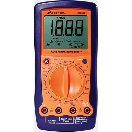 "Image of Actron CP7677 2.7"" LCD Auto Troubleshooter Digital Multimeter & Engine Analyzer"