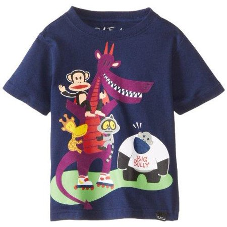 Paul Frank Toddler Boy's Julius & Friends Big Bully Short Sleeve Tee T-Shirt, Navy](Big Frank)
