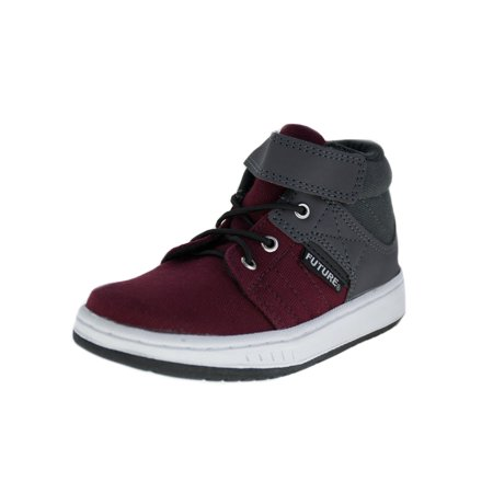 Future Little Boys Burgundy Gray High-Top Trendy Tennis Shoes](Back To The Future 2 Shoes Halloween)