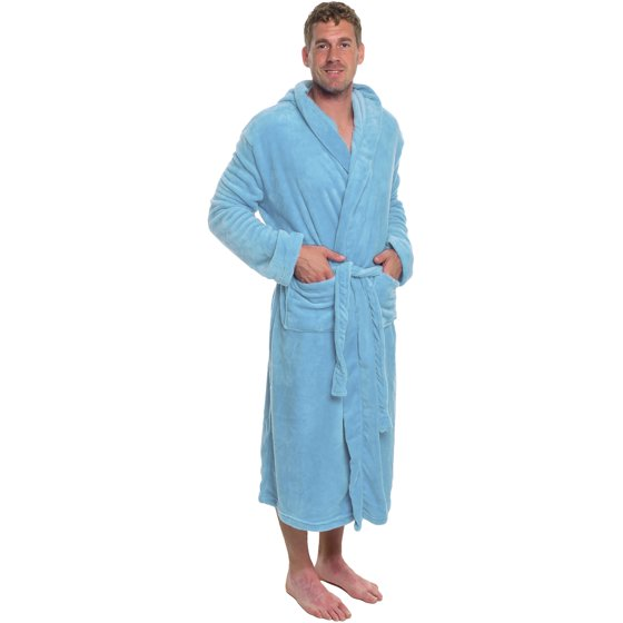 ... enhancing a day in front of the TV watching some games. Machine wash  cold and tumble dry low. ROSS MICHAELS Mens Plush Shawl Kimono Bathrobe  Hooded Robe 15429eb11