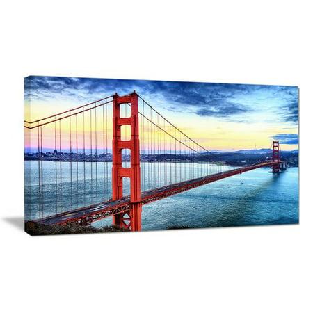 Design Art Golden Gate Bridge in San Francisco Sea Bridge Photographic Print on Wrapped