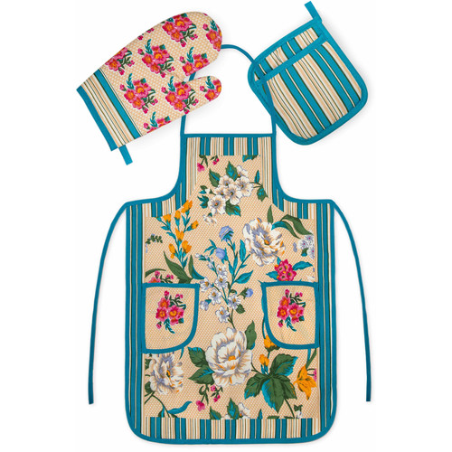 Crover Chef's 3 Piece Cotton Apron Set