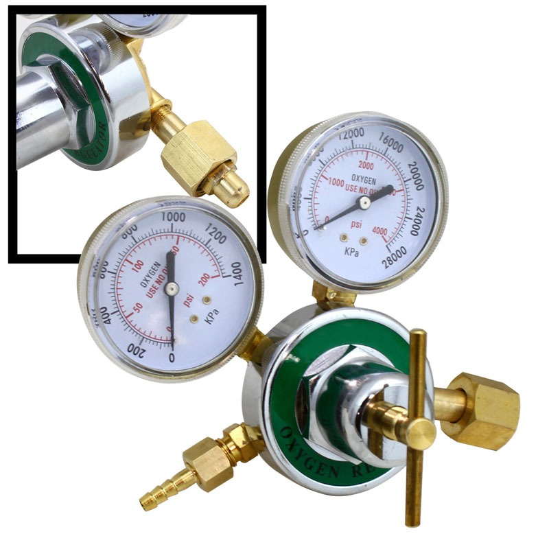 Professional Oxygen Regulator Pressure Gauge Tool for Cutting /& Welding Kit