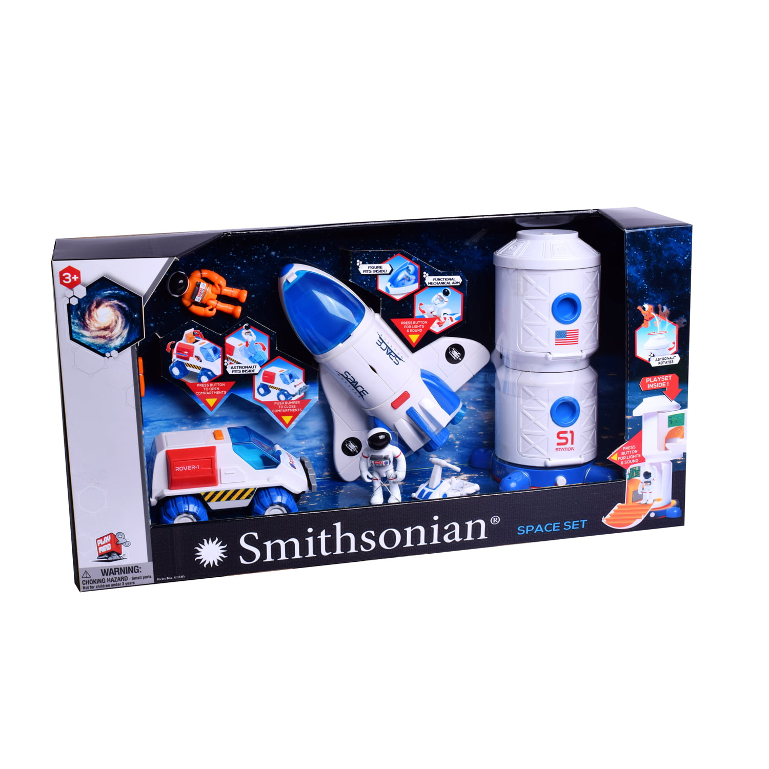 Smithsonian Space Set with Space Rover, Shuttle, Space Station by PLAYMIND LTD.