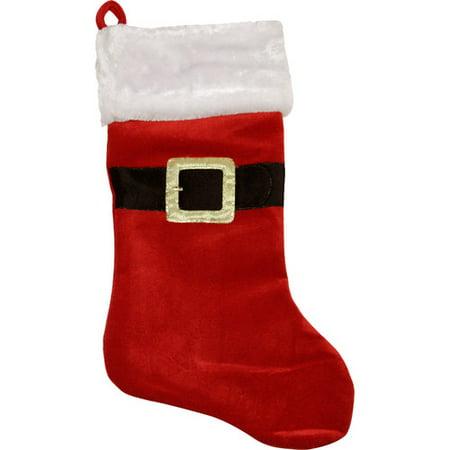 northlight seasonal traditional velveteen santa claus belt buckle christmas stocking - Santa Claus Belt