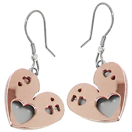 Heart 2-tone Italian Stainless Steel Ear