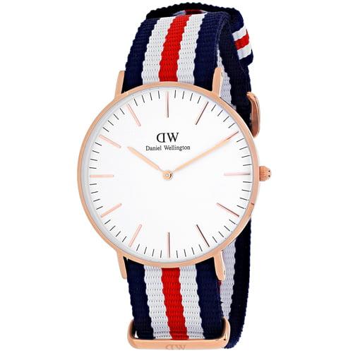 Daniel Wellington Women's Canterberry 0502DW Blue Nylon Quartz Watch