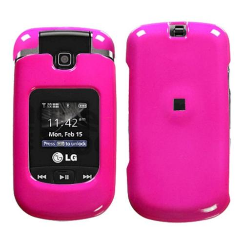 Insten Solid Shocking Pink Phone Case for LG: VX8370 (Clout)