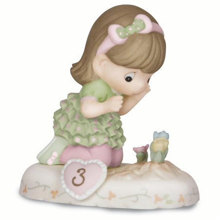 Precious Moments Growing Grace Age Three Brunette Porcelain Figurine (Halloween Precious Moments Figurines)