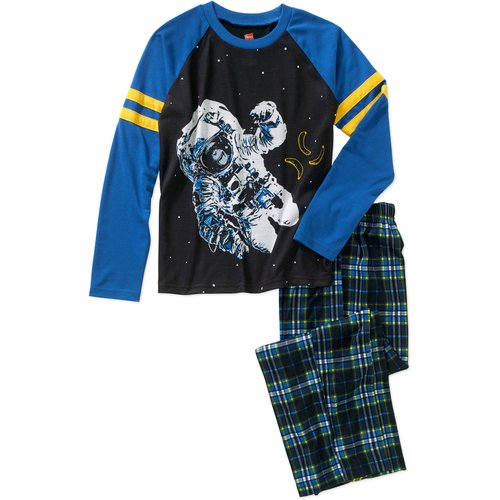 Hanes Boys' Tagless Poly Pajama Sleepwear Set, Available in 6 Graphics