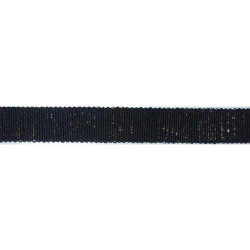 """Ruban Scintilla Ribbon 5/8""""X3.28 Yards-Black/Gold"""