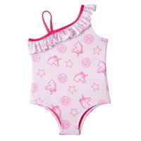 Pink Platinum Baby Toddler Girl Ruffle One-Piece Swimsuit