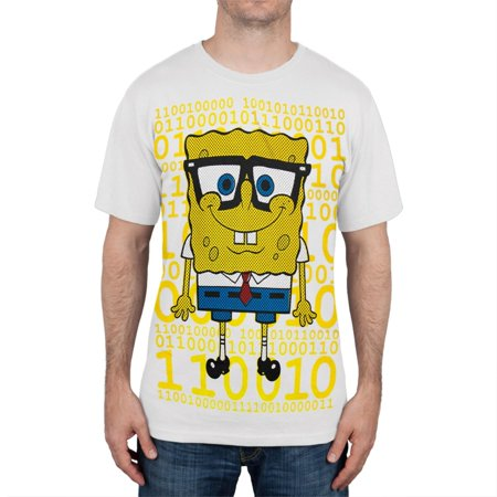 Spongebob Squarepants - Digital Nerdy Spongebob T-Shirt - Old Spongebob