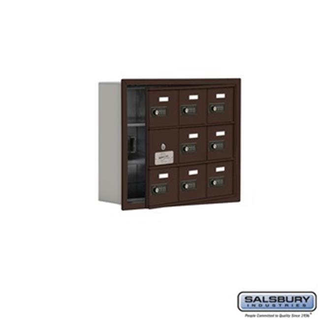 SalsburyIndustries 19135-09ZRC Cell Phone Storage Locker With Front Access Panel - 3 Door High Unit, Bronze - image 1 de 1