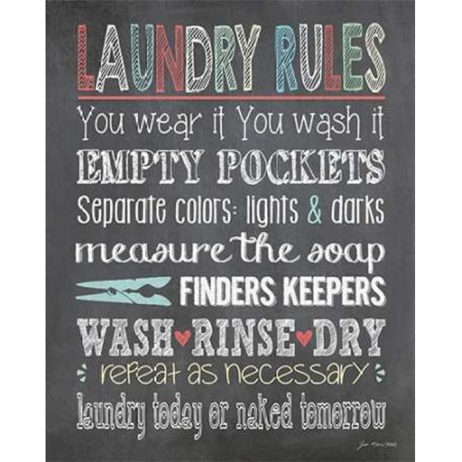 Sagebrush Fine Art PDXJM11516LARGE Laundry Rules Poster Print by Jo Moulton, 24 x 30 - Large - image 1 de 1