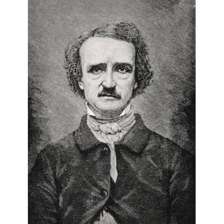 Posterazzi Edgar Allan Poe 1809 To 1849 American Author Editor And Critic From 19Th Century Print Canvas Art - Ken Welsh  Design Pics (24 x 32)