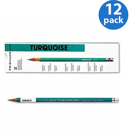 Prismacolor Turquoise Drawing Pencil, 2H, 1.98 mm, Dozen