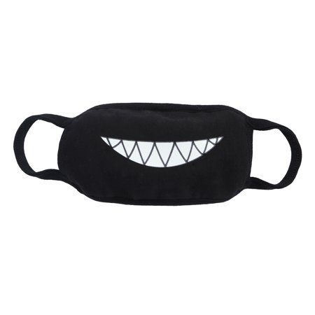 Men and women Boys and Girls Cotton Teeth Luminous Anti-Dust Mouth face Mask Anime Halloween Gift Cosplay